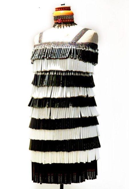 Martha Jones designed a flapper dress using upcycled vapes