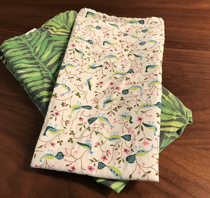 Finished cloth napkins