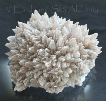 Dogtooth calcite crystal cluster