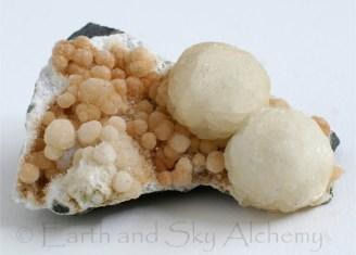 Gyrolite crystal cluster