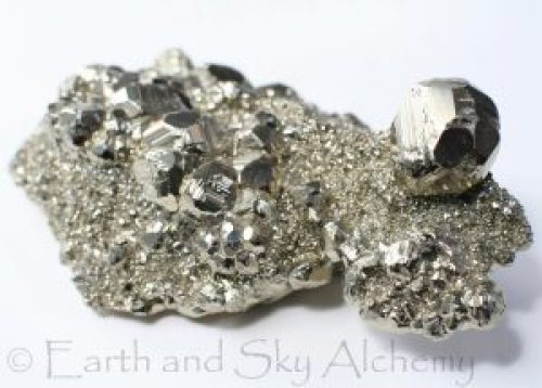 Pyrite druzy and dodecahedral crystal cluster