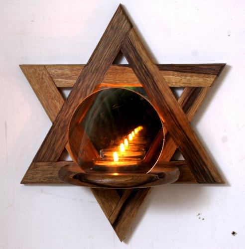 star-of-david-wooden-candle-holder