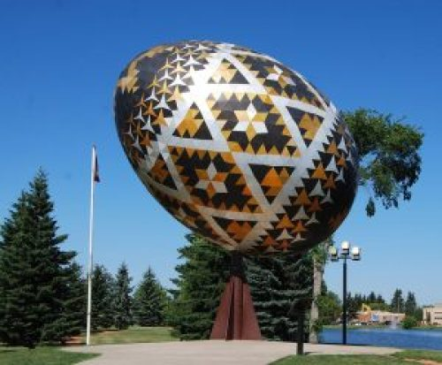 Vegreville Egg by Paul Maxum Sembaliuk in Alberta, Canada