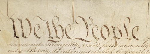 United States Constitution Preamble detail