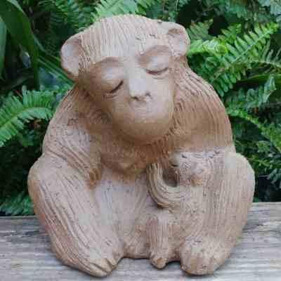 ceramic-mama-monkey-nursing-baby-garden-figurine-by-margaret-hudson-earth-arts-studio-1