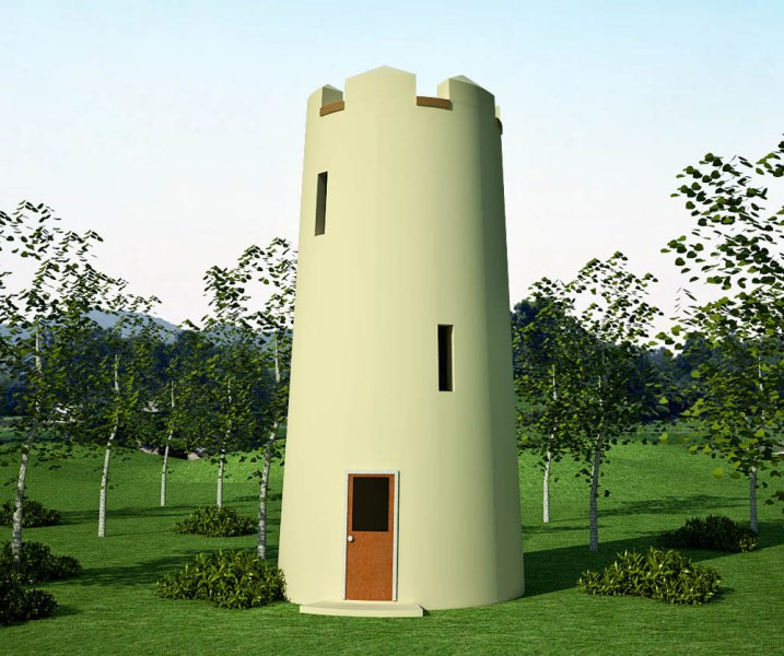 sand bag   Earthbag House Plans Observation Tower  click to enlarge