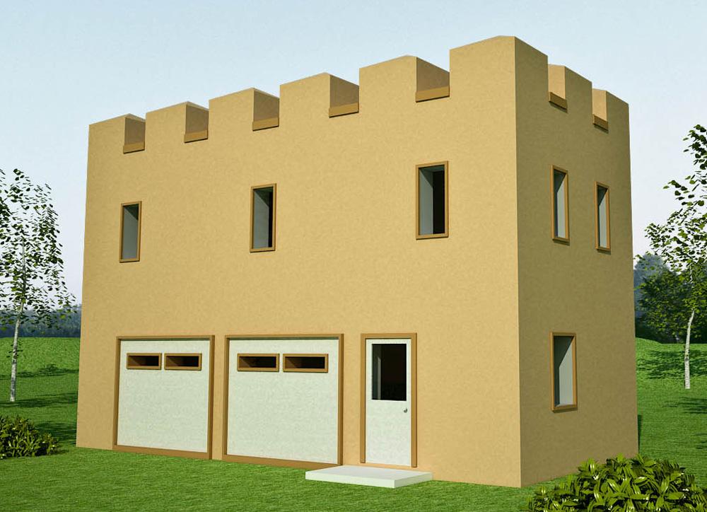 Castle Style Earthbag House Plans