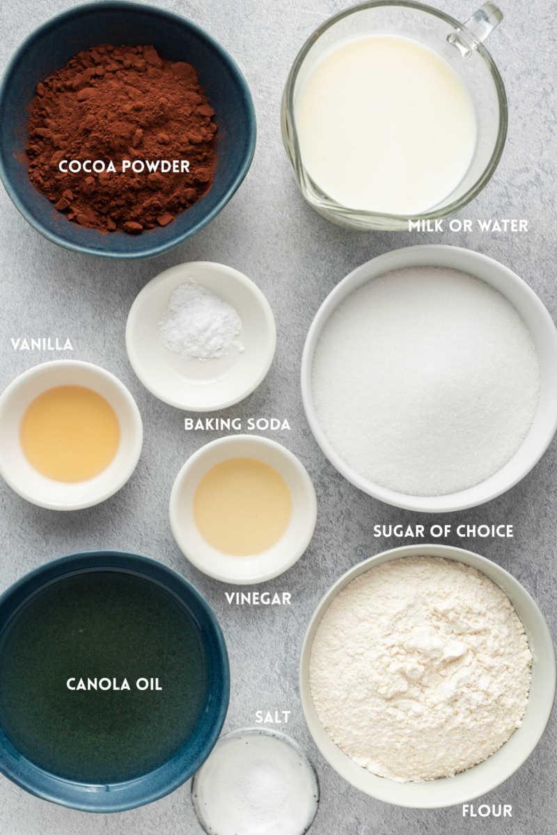vegan chocolate cake ingredients