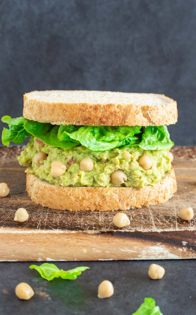 smashed chickpea sandwich