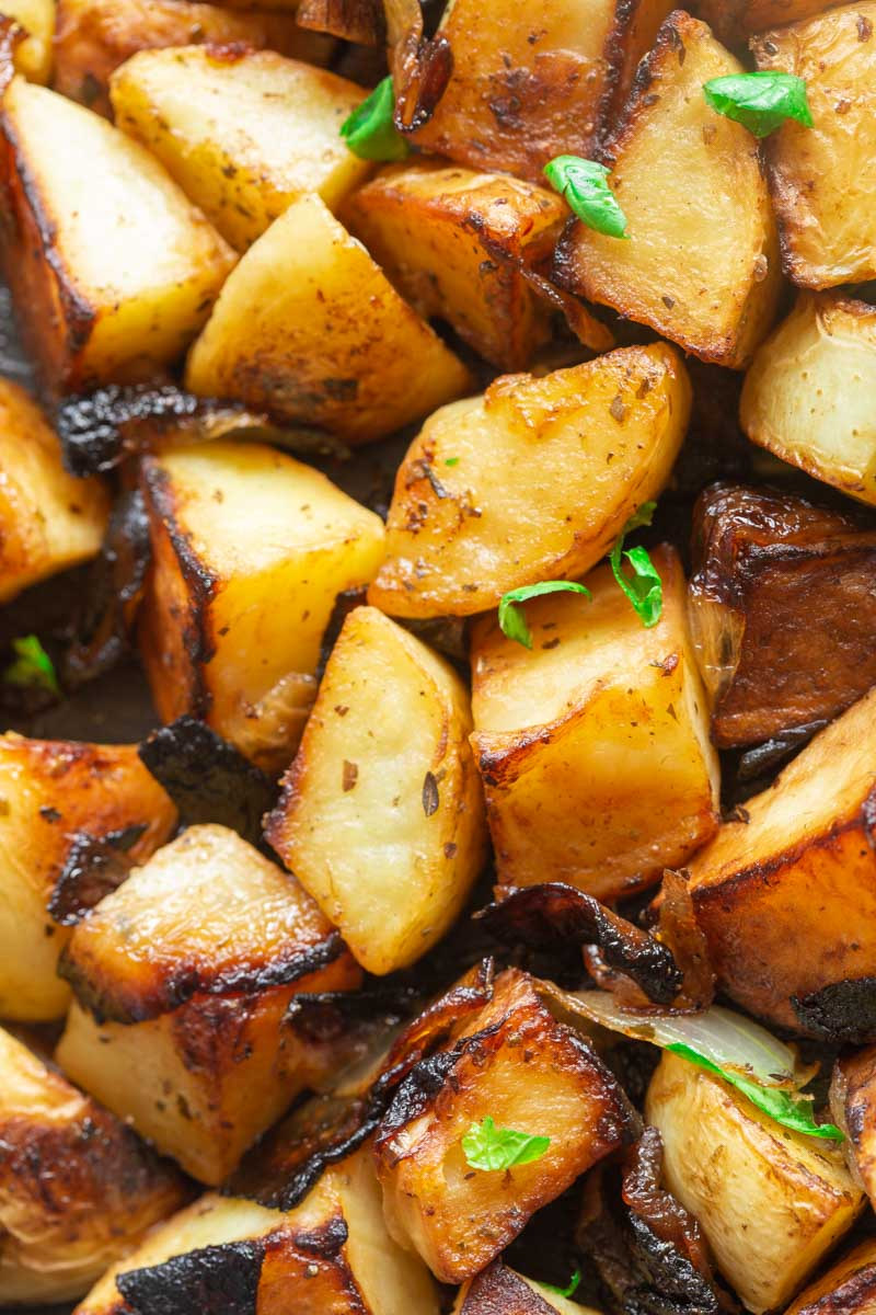 pan fried potatoes and onions