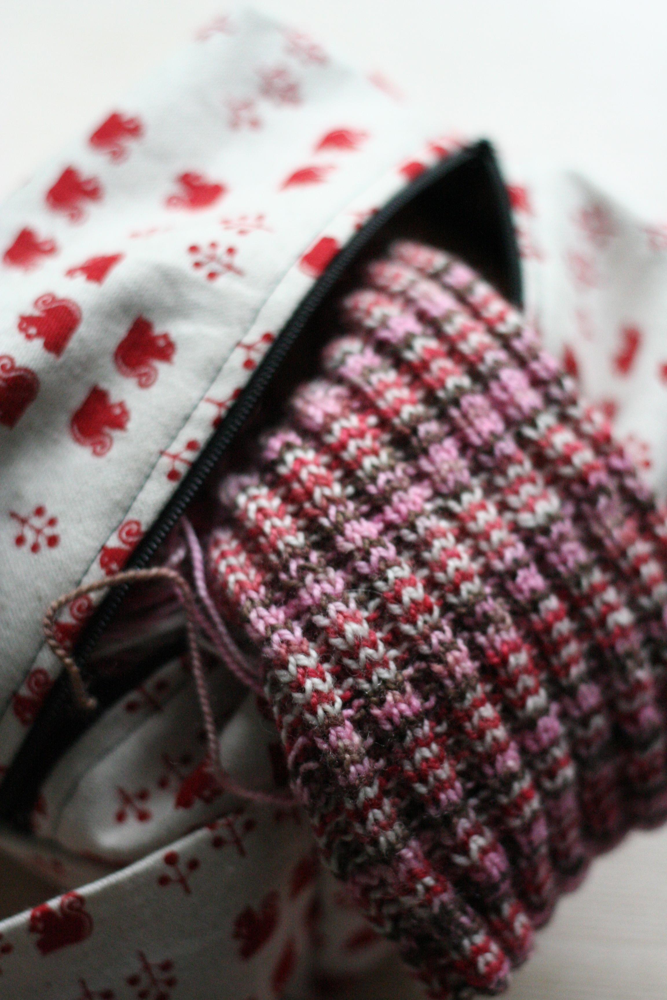 Cherry Blossom garter rib sock