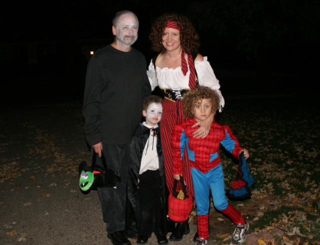 Trick or Treat!  (notice that Little Buddha is still carrying the web!)