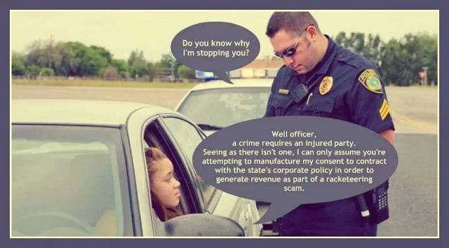 """Do you know why I'm stopping you?"" (Cop asks driver