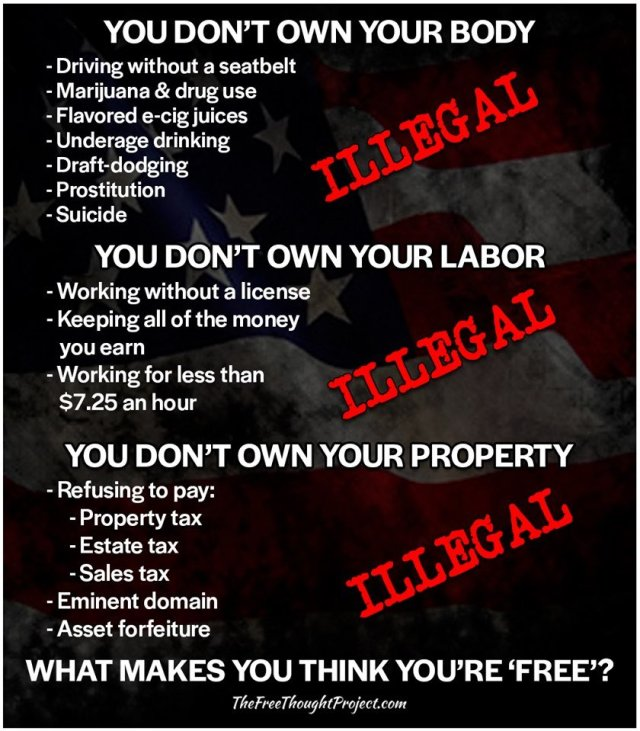 YOU DON'T OWN YOUR BODY