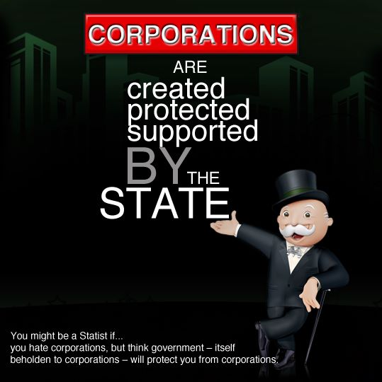 CORPORATIONS ARE CREATED PROTECTED SUPPORTED BY THE STATE