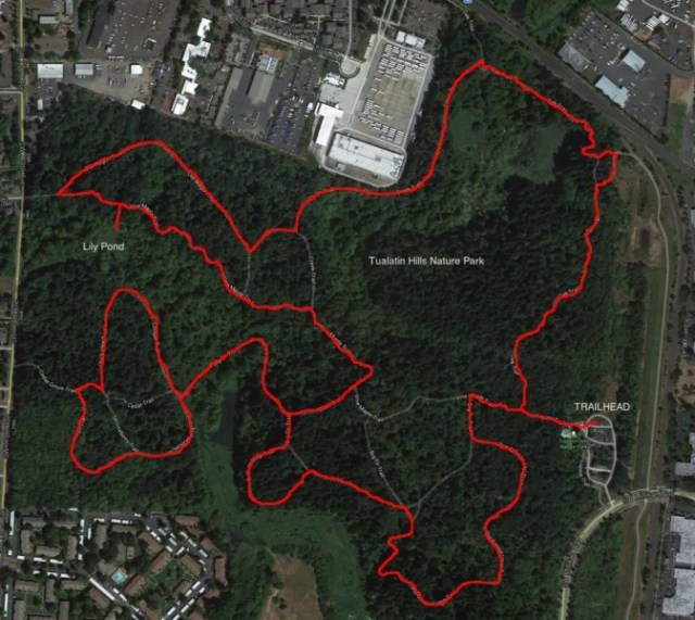 connecting to nature in fitness: Tualatin Hills trail Map