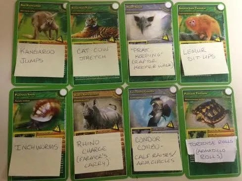 animal scavenger hunt cards