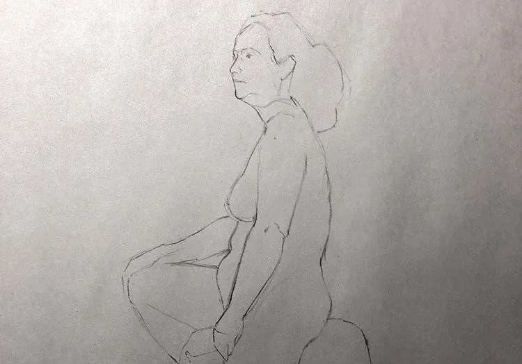 1000 days of art: figure drawing