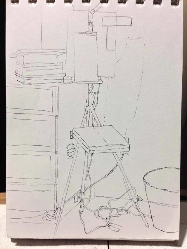 1000 days of art: studio sketch