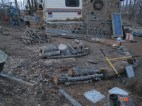 Here the piles are all laid out ready to be covered.