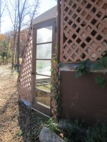 Our little solar greenhouse/fodder room on the south wall of our house :)