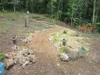 The early beginnings of our path and orchard, taken 2013-05-17
