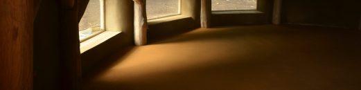 soft light on an earth floor