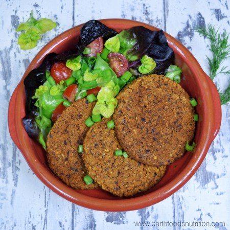 Low Fat Vegan Bean Burgers by Chrissy Faery
