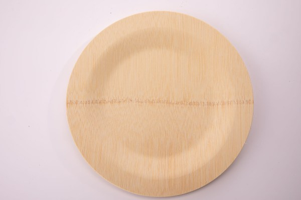 178 363 299A6186 2 - Round Bamboo Plate