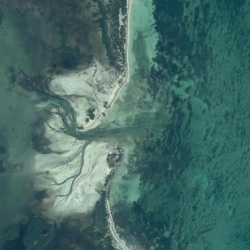Satellite image of a coast line detail in Cuba