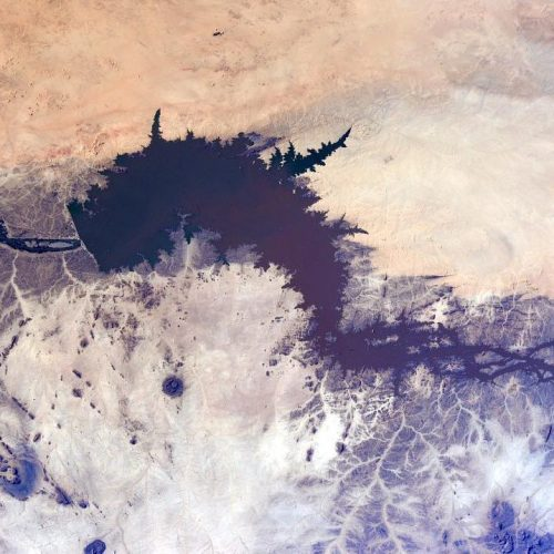 Photograph of the River Nile Dam seen from space