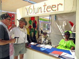 Volunteers at the Information desk