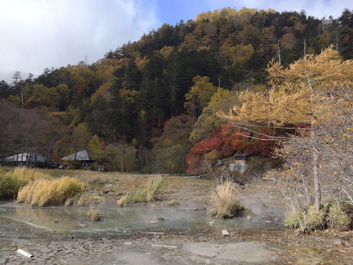 North of Lake Yu (yunoko), there are Japanese Maple trees and birch around Yumoto onsen.