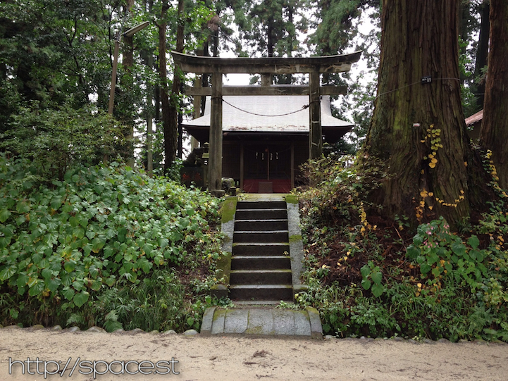 a shrine in the park