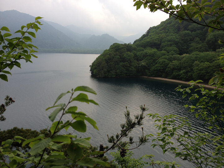 view from cliff back toward Tochikubo