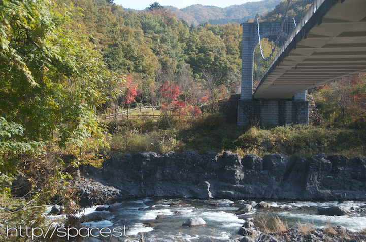 Under Dainichi Bridge at Daiya River