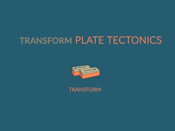Transform Plate Boundaries Tectonics Type