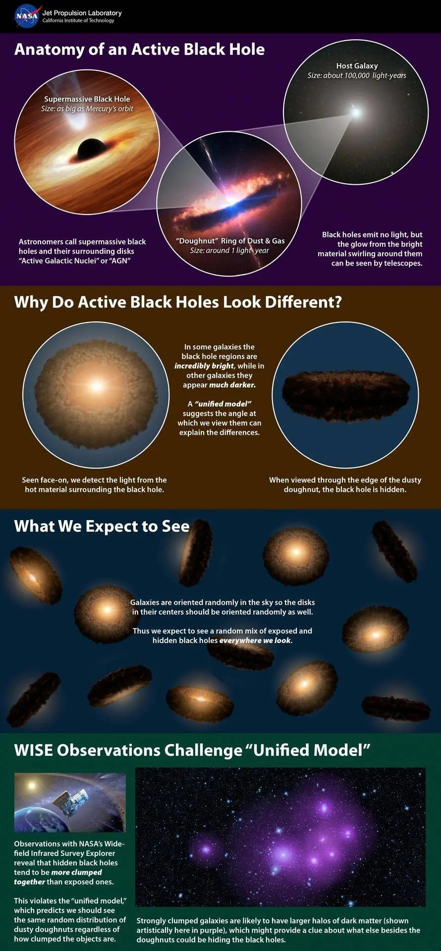 Supermassive Black Holes Infographic