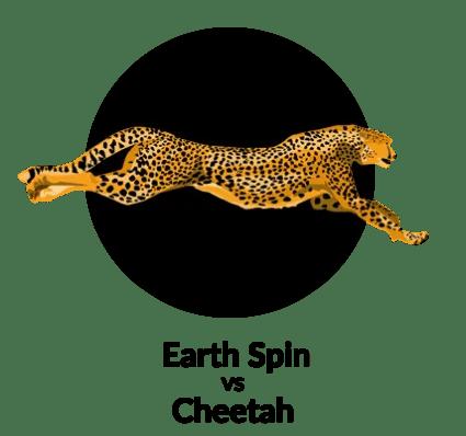 Earth Spin vs Cheetah