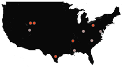 The ten most contaminated sites nationwide, based on a combined measure of the extent to which each pollutant exceeded safe levels at each site.