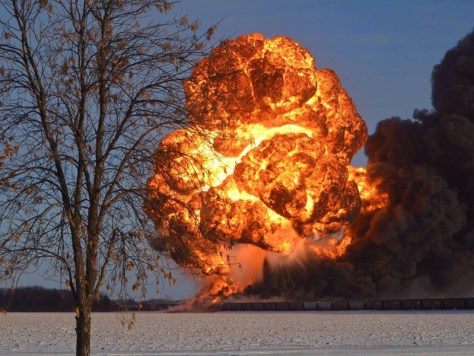 Crude-by-rail explosion
