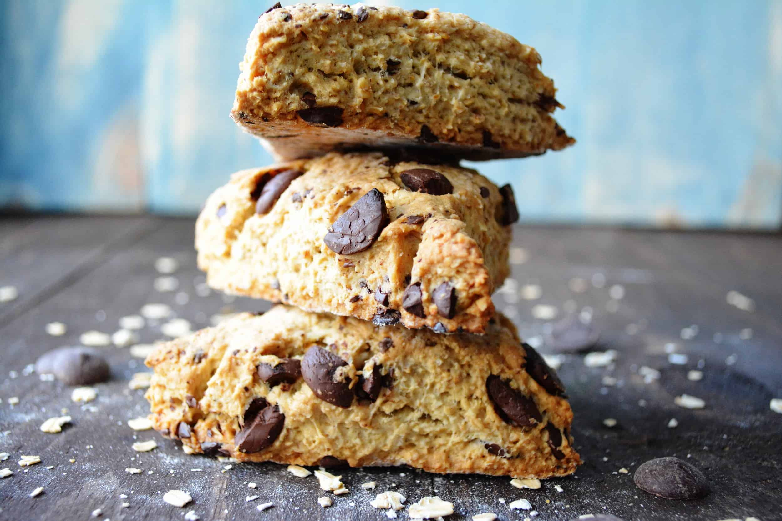Toasted Oat and Chocolate Scones