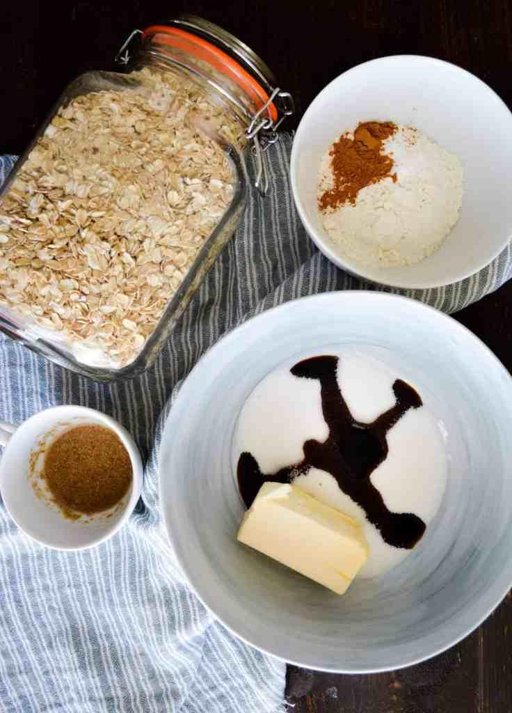 Pumpkin Spices Oatmeal Cream Pie Ingredients