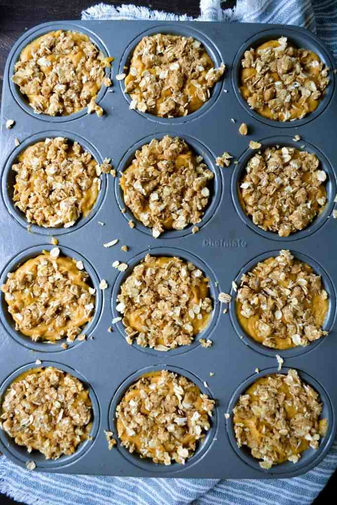 Unbaked Coffee Cake Muffins