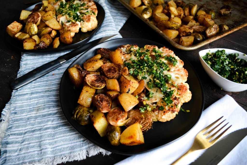 cauliflower steaks with Gremolata