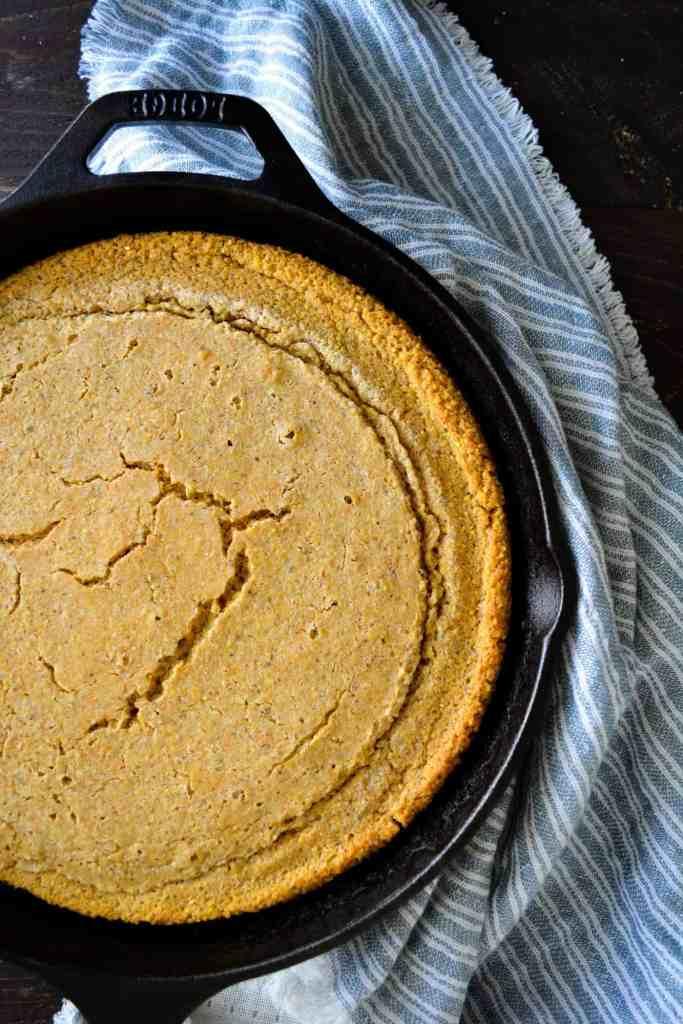 Baked Skillet Whole Grain Cornbread