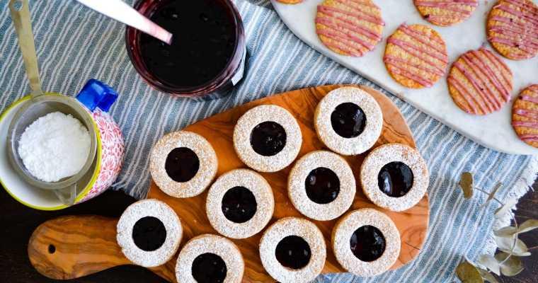 Five Spice + Blackberry Linzer Cookies