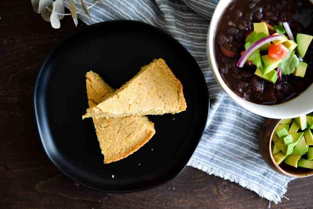Slices of Skillet Whole Grain Cornbread