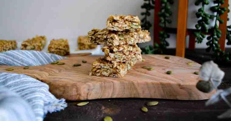 No-Bake Chewy Cardamom Granola Bars