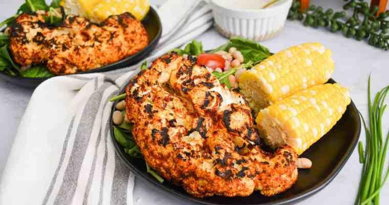 Harissa Butter Grilled Cauliflower Steaks